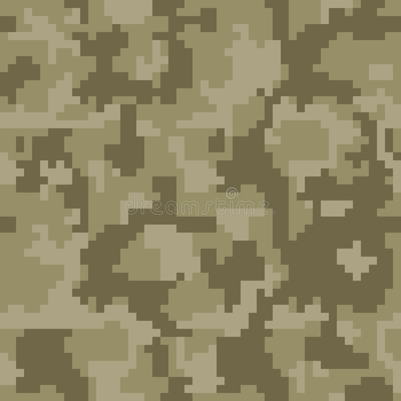 Nahtloses Muster der Digital-Pixelgrün-Tarnung für Ihr Design lizenzfreie abbildung