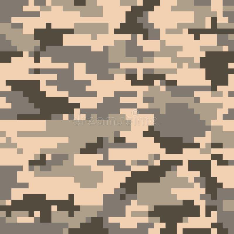 Nahtloses Muster der Digital-Pixeltarnung vektor abbildung