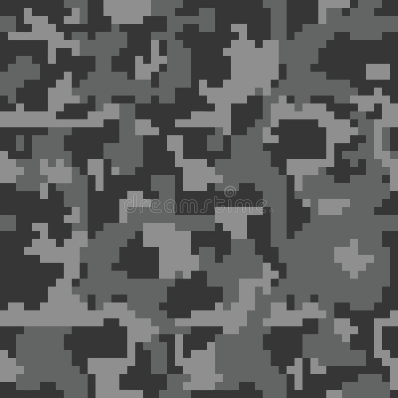 Nahtloses Muster der Digital-Pixeltarnung für Ihr Design stock abbildung