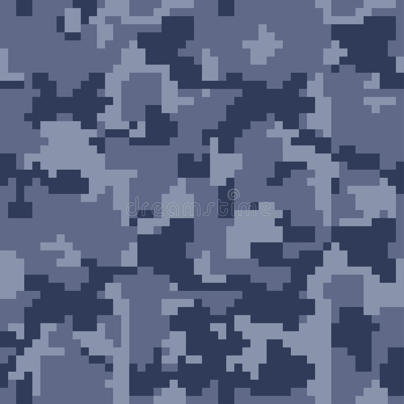 Nahtloses Muster der Digital-Pixeltarnung für Ihr Design lizenzfreie abbildung