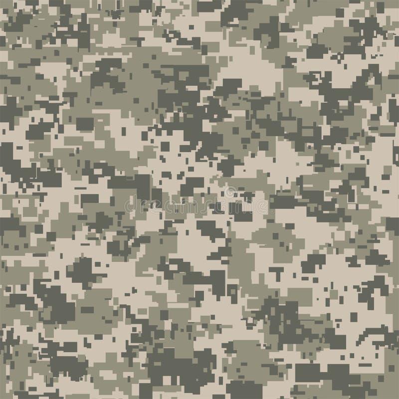 Nahtloses Muster der Digital-Pixeltarnung für Ihr Design Vektorvorlage ist- zum Download betriebsbereit stock abbildung
