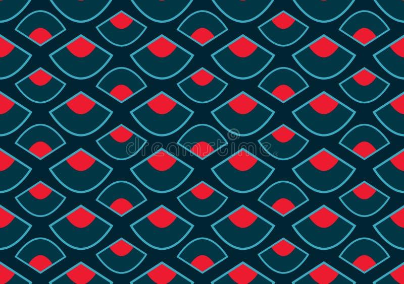 Nahtloses Muster der Dragon Boat Festival-Artfan-Art stock abbildung