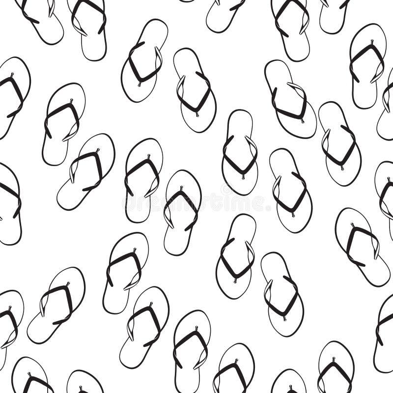 Nahtloses Muster der Flipflops lizenzfreie abbildung