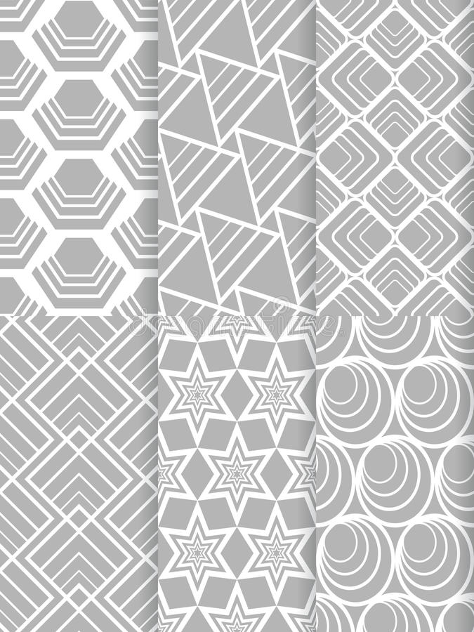 Nahtloses Muster der Form lizenzfreie stockfotos