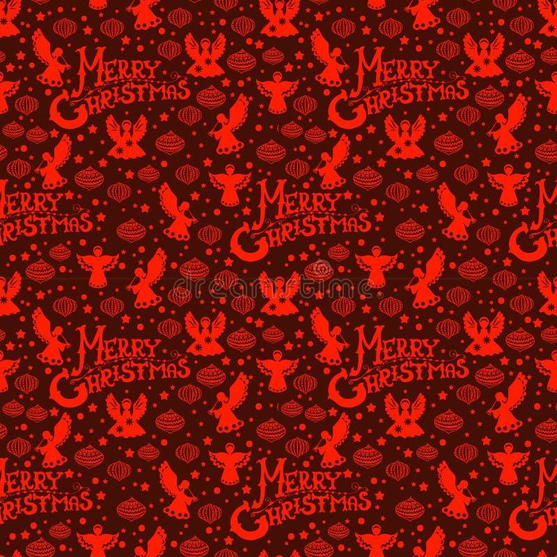 Nahtloses Muster Der Frohen Weihnachten Lizenzfreies Stockbild