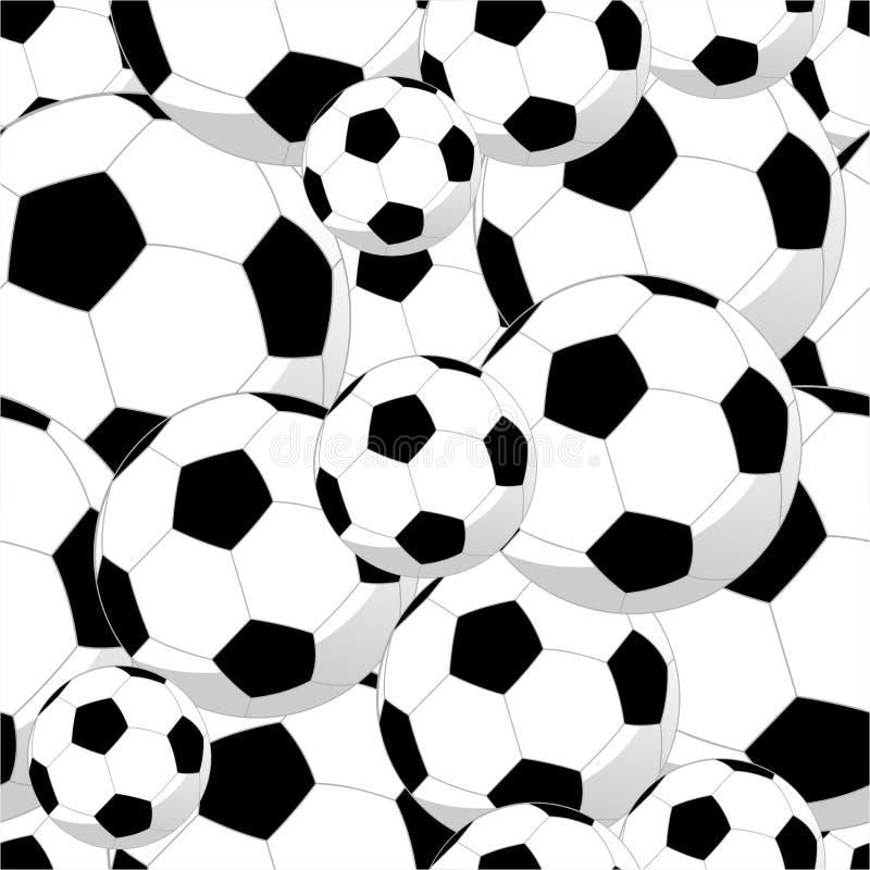 Nahtloses Muster der Fußballkugeln lizenzfreie abbildung
