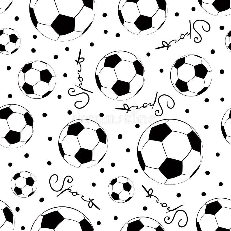 Nahtloses Muster der Fußballkugeln Sport, Drucke, Gewebe vektor abbildung