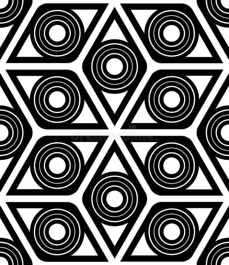Nahtloses Muster der geometrischen Raute vektor abbildung