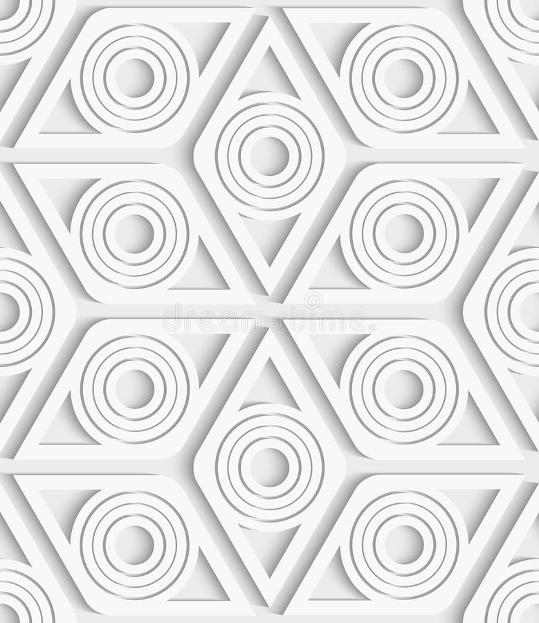 Nahtloses Muster der geometrischen Raute herausgeschnitten lizenzfreie abbildung