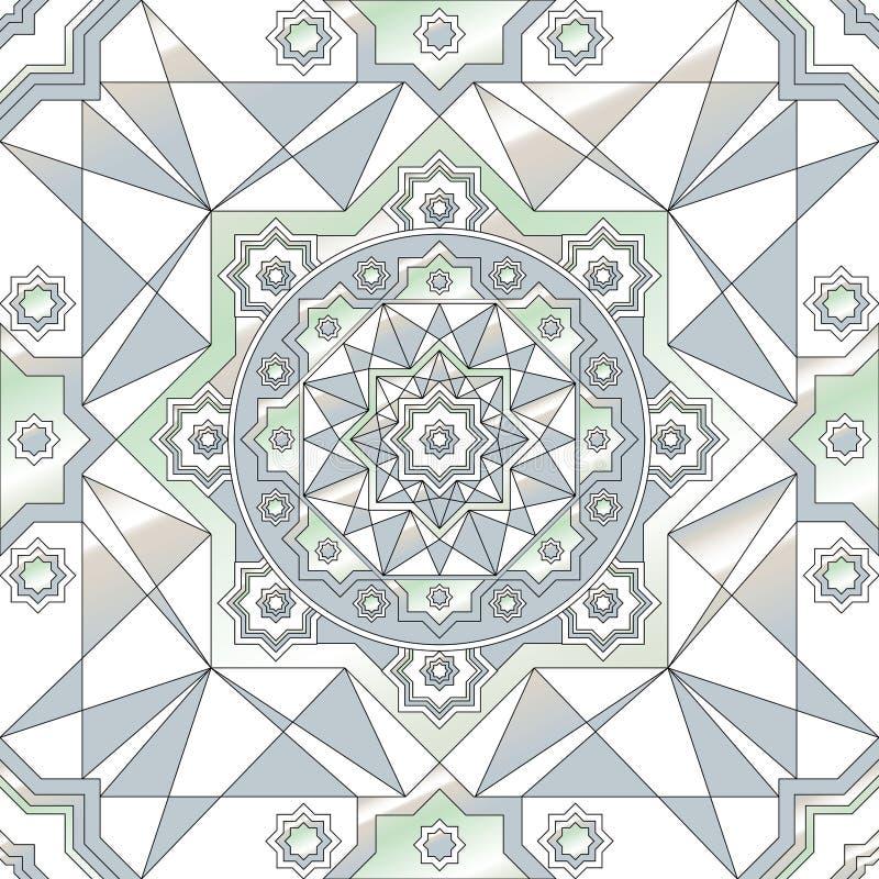 nahtloses Muster der geometrischen Verzierung Runde Verzierungsschwarzweiss-beschaffenheit im Vektor Große Wahl für die Verpackun lizenzfreie abbildung