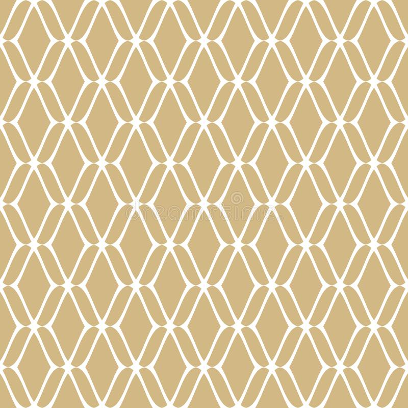 Nahtloses Muster der goldenen Masche Subtiles Vektorgold und weißer Luxushintergrund lizenzfreie abbildung