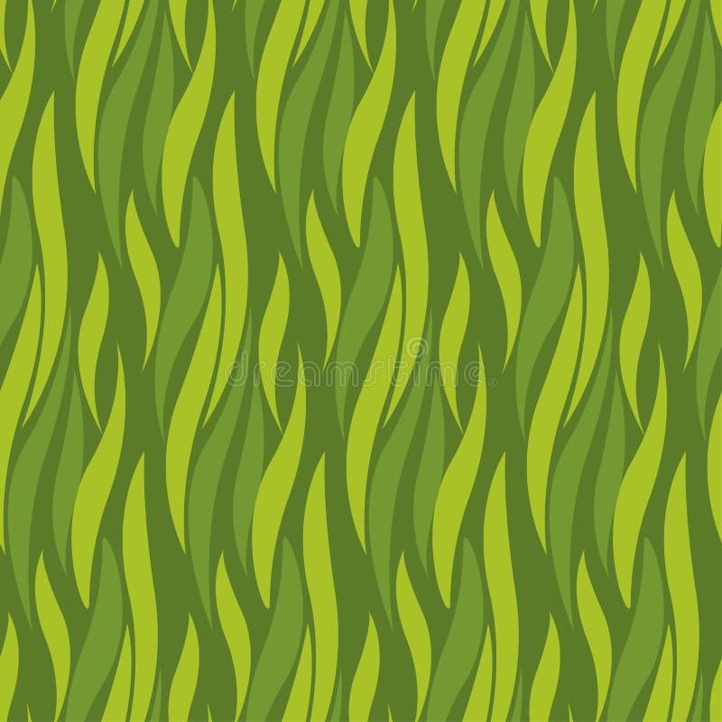 Nahtloses Muster der grünen Welle für Hintergrund, Oberflächendesign lizenzfreie abbildung