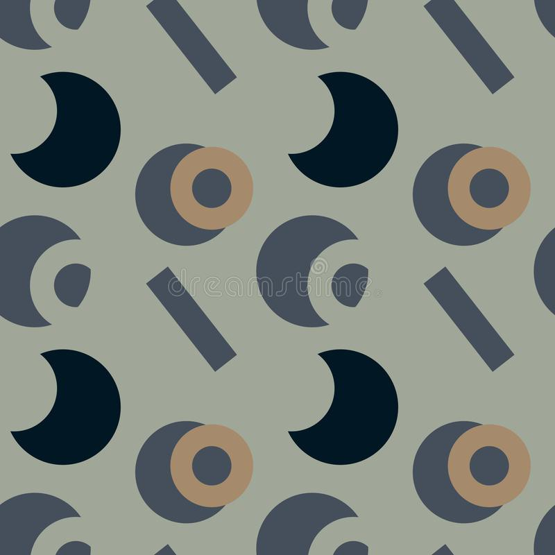 Download Nahtloses Muster Der Grundlegenden Klaren Formen Vektor Abbildung - Illustration von defekt, elemente: 106802552