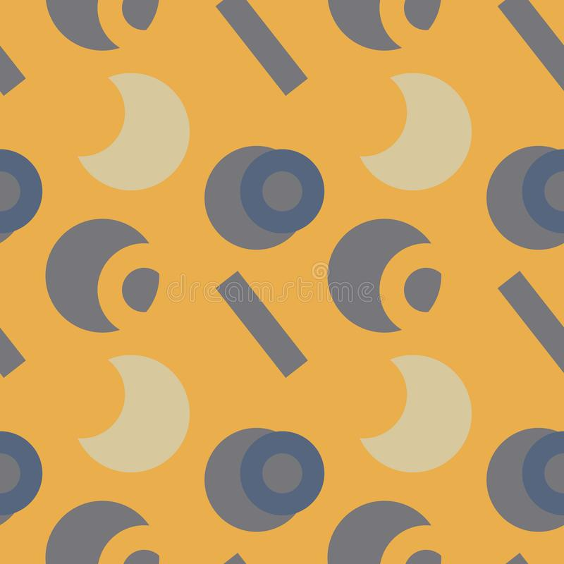 Download Nahtloses Muster Der Grundlegenden Klaren Formen Vektor Abbildung - Illustration von kreis, fashion: 106802933