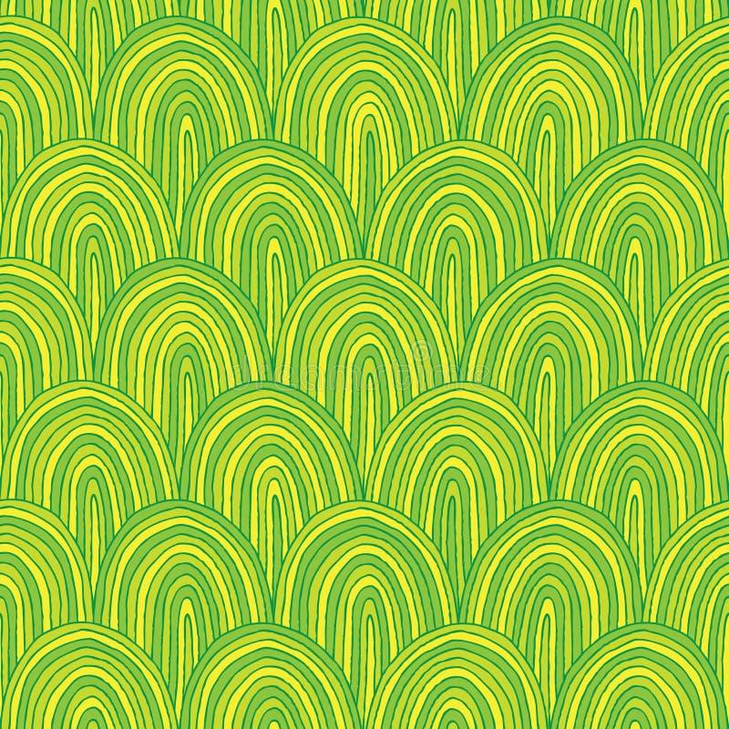 Nahtloses Muster der Hügel vektor abbildung