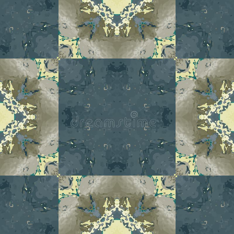 Nahtloses Muster der halb transparenten biomorphic Fliese stock abbildung