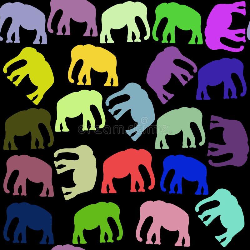 Nahtloses Muster der hellen Elefanten und nahtloses Muster im Muster vektor abbildung