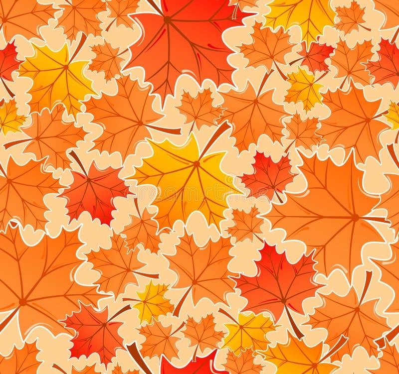 Nahtloses Muster der Herbstblätter vektor abbildung
