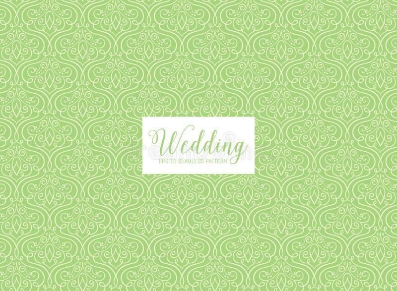 Nahtloses Muster der Hochzeit der einzelnen Zeile stock abbildung