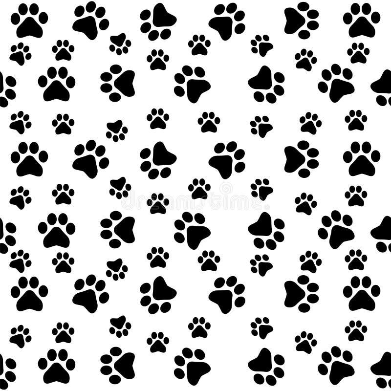 Nahtloses Muster der Hundetatzen lizenzfreie abbildung