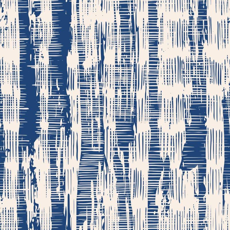 Nahtloses Muster der Indigovektorbindungs-Färbung stock abbildung