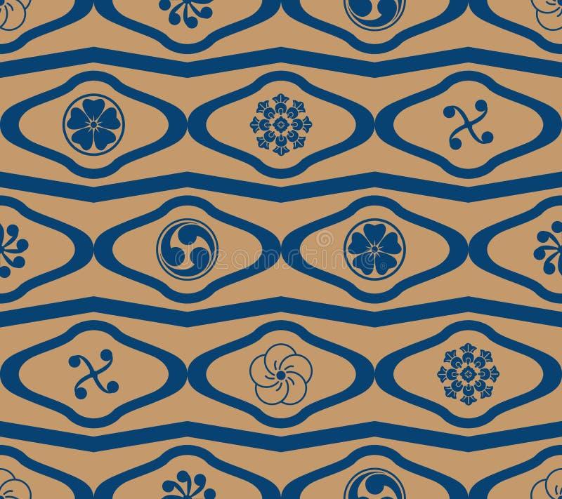 Nahtloses Muster der Japaner-Montag-Diamantformsparren-Art vektor abbildung