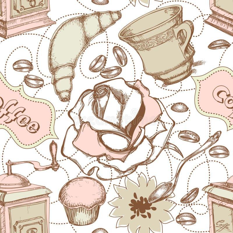 Nahtloses Muster der Küche vektor abbildung