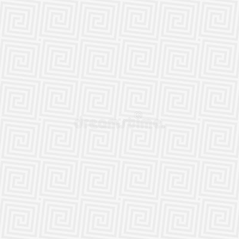 Nahtloses Muster der klassischen Windung lizenzfreie abbildung