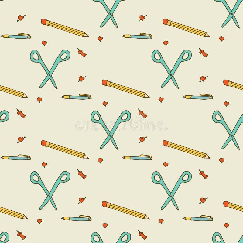 Nahtloses Muster Der Kompaß und der Winkelmesser stockfoto