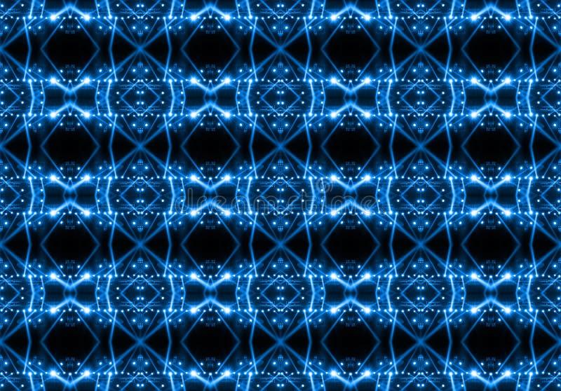 Nahtloses Muster der Konzertbeleuchtung gegen einen dunklen Hintergrund stockfotografie