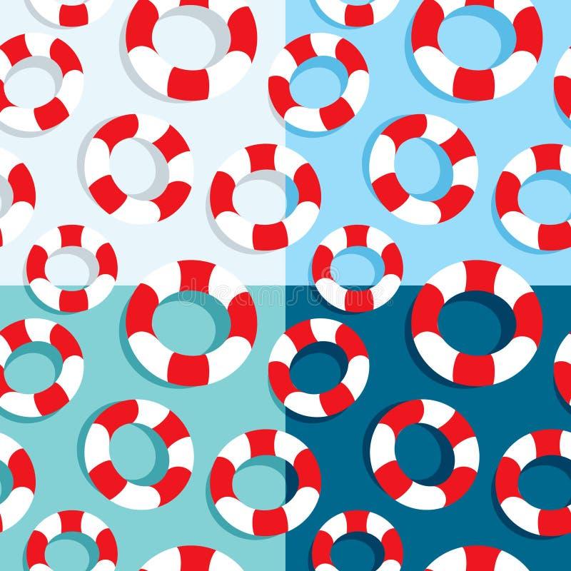 Nahtloses Muster der Lebenbojen lizenzfreie abbildung