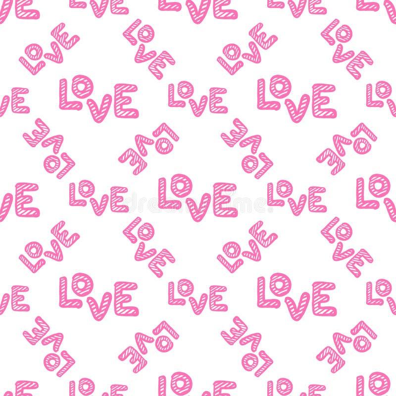 Nahtloses Muster der Liebe Gl?ckliche Valentinsgru?tagesgru?karte stockfoto