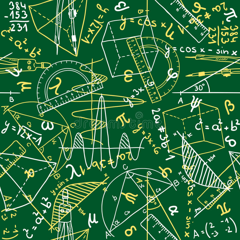 Nahtloses Muster der Mathematik stock abbildung