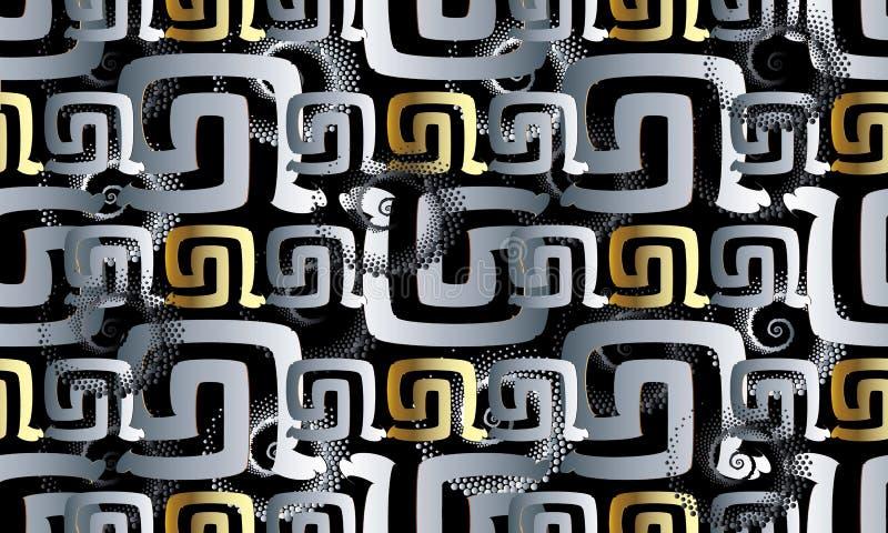 Nahtloses Muster der modernen abstrakten Windung Geometrisches Vektor backg stock abbildung