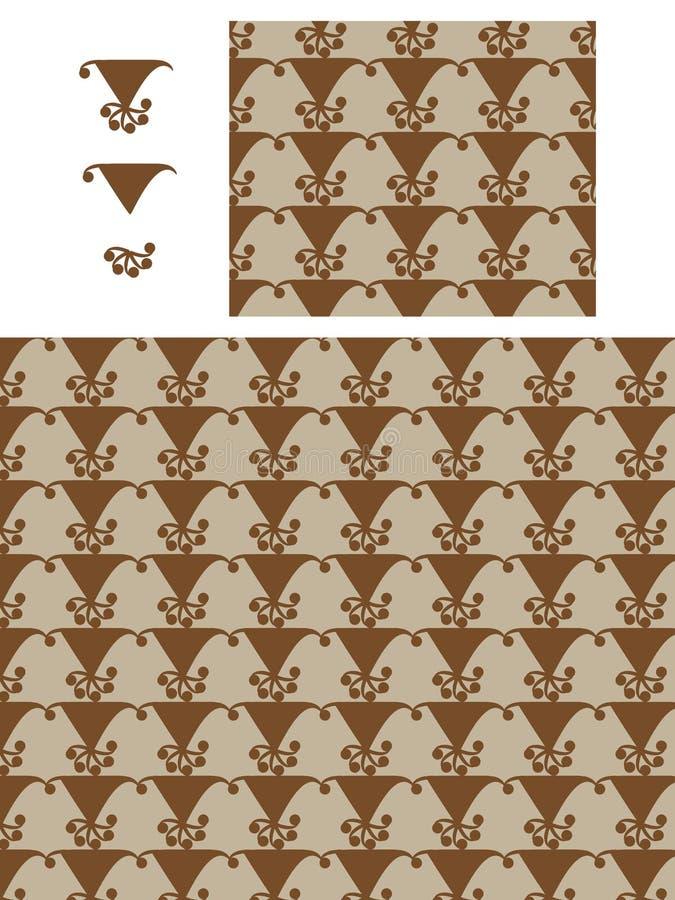 Nahtloses Muster der modernen Art der Japaner-Montag-Elementflagge Lauf lizenzfreie abbildung