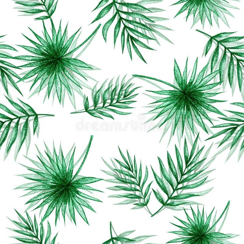 Nahtloses Muster der Palmbl?tter lizenzfreie abbildung