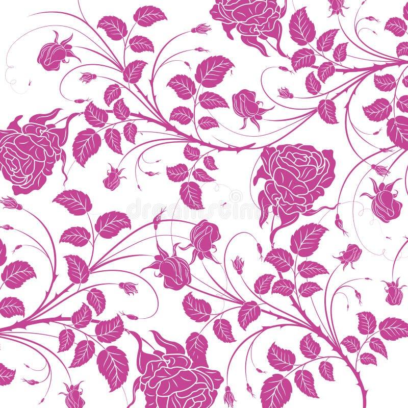 Nahtloses Muster der purpurroten Blume lizenzfreie abbildung