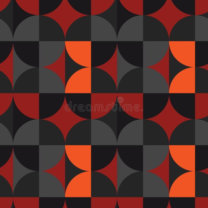 Download Nahtloses Muster Der Quadratischen Illusion Des Kreises Vektor Abbildung - Illustration von merkwürdig, schein: 106802208