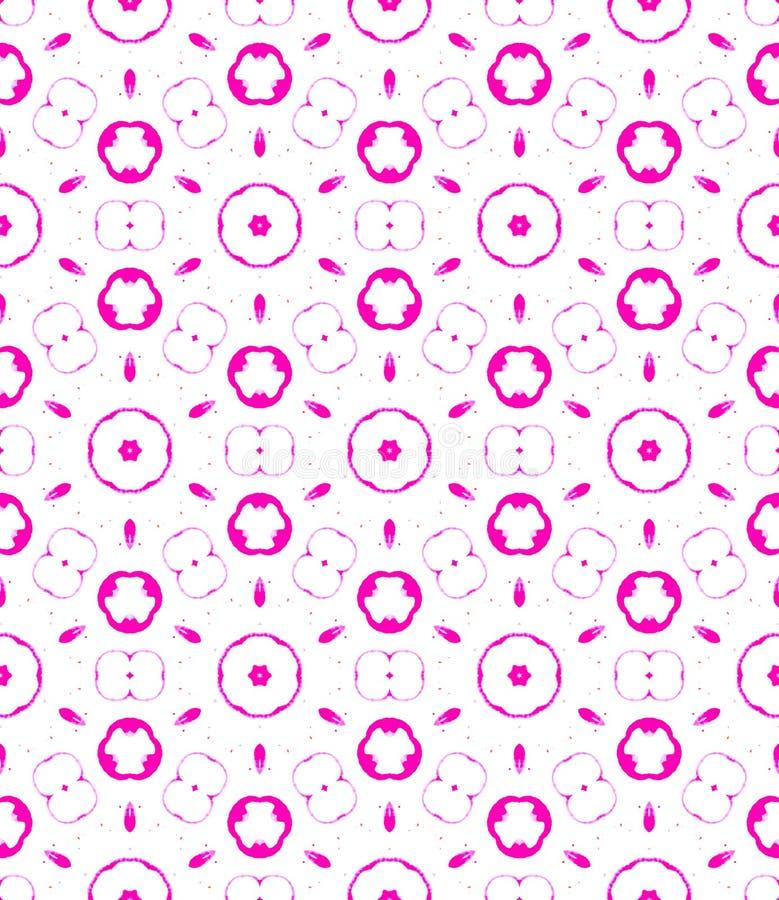 Nahtloses Muster der rötlichen Kreise Hand gezeichnetes Wasser vektor abbildung
