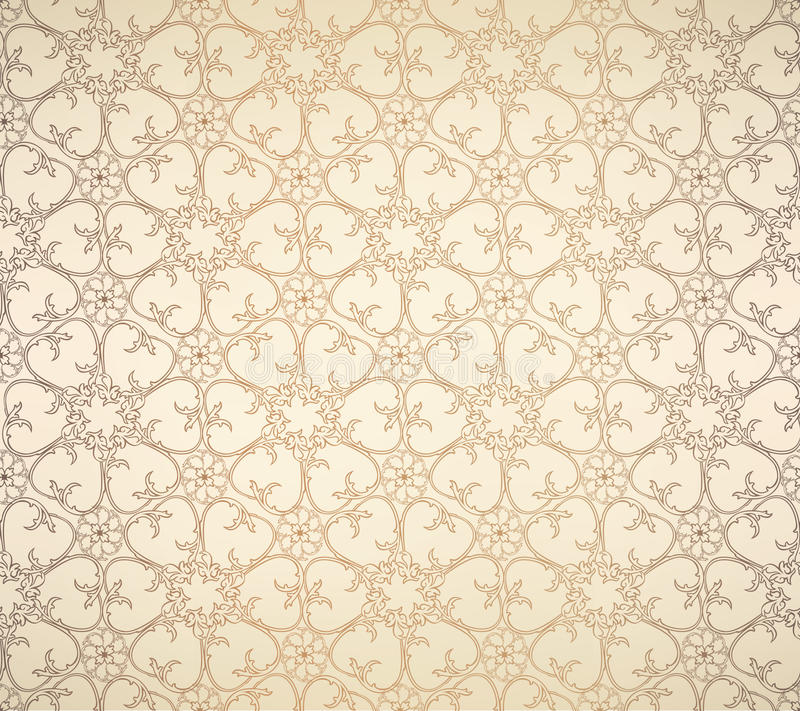 Nahtloses Muster der Retro Vignette stock abbildung