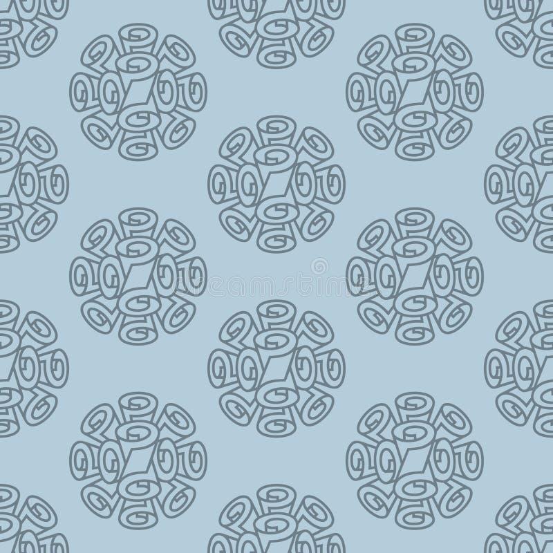 Nahtloses Muster der Rollentapete lizenzfreie abbildung