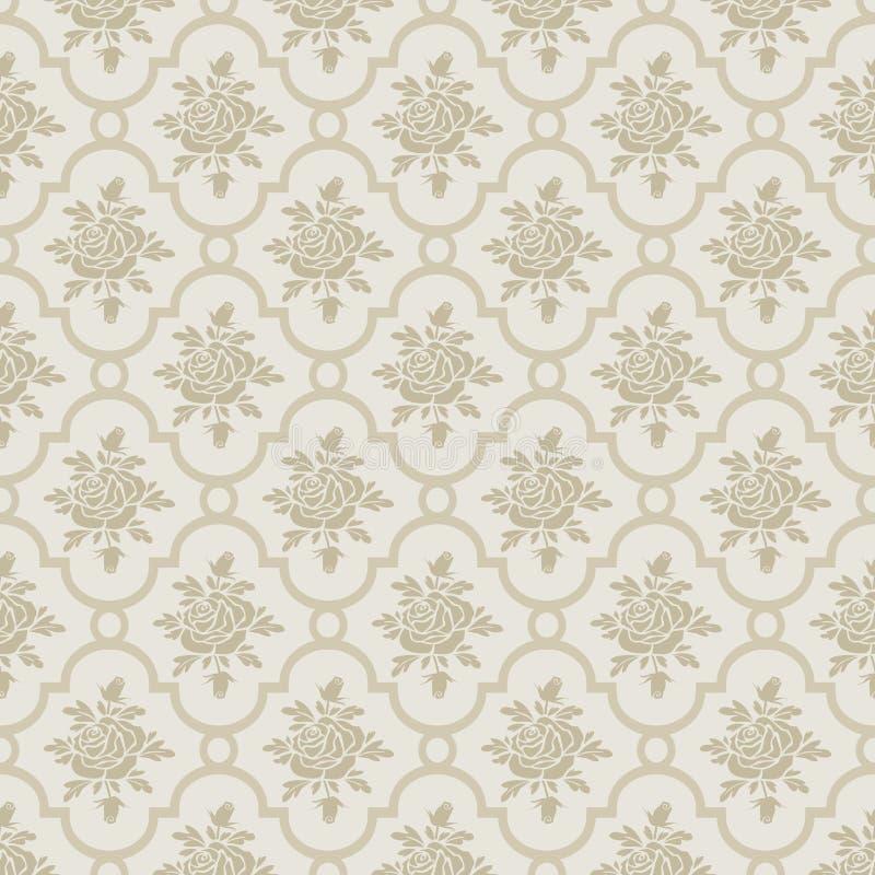 Nahtloses Muster der romantischen Pastellrosen vektor abbildung