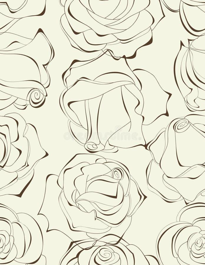 Nahtloses Muster der Rosen vektor abbildung