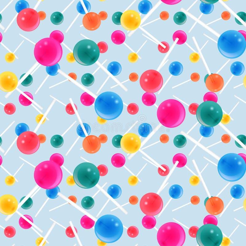 Nahtloses Muster der Süßigkeit stock abbildung