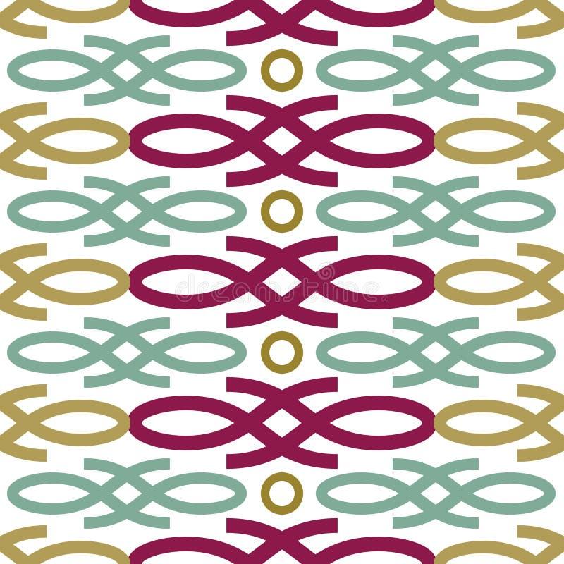Nahtloses Muster der Schleife vektor abbildung