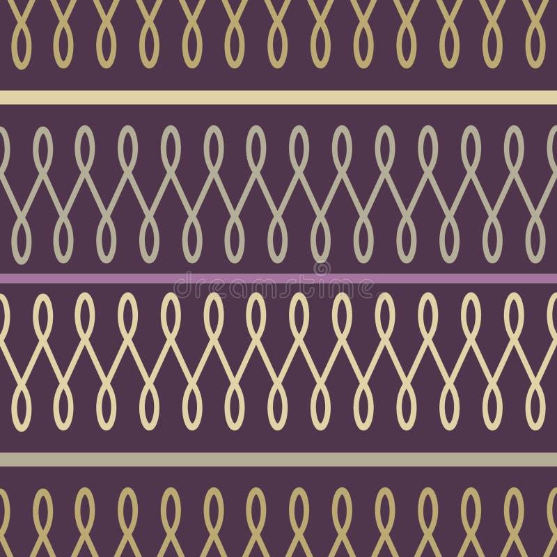 Nahtloses Muster der Schleife lizenzfreie abbildung
