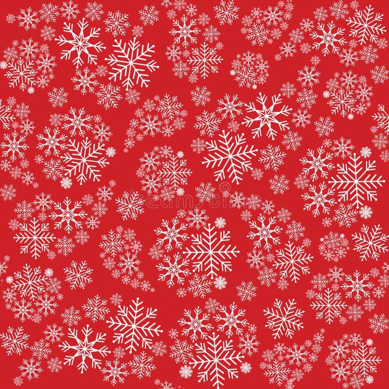 Nahtloses Muster der Schneeflocke Vektordekorative Abbildung für grafische Auslegung Nahtloses Muster kann für Tapete, Musterfüll lizenzfreie abbildung