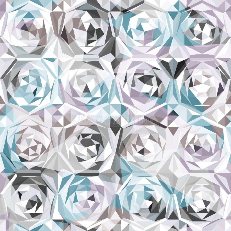 Nahtloses Muster der silbernen Rosen lizenzfreie abbildung