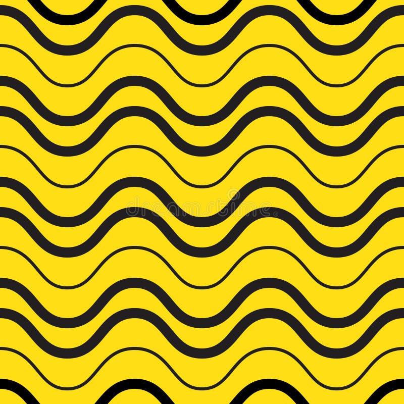 Nahtloses Muster der spielerischen Wellen stock abbildung