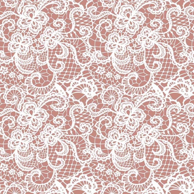 Nahtloses Muster der Spitzes mit Blumen lizenzfreie stockbilder